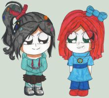 AT: Vanellope and Twizzler by V-P-aurore-star