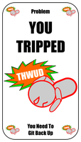Tripped Problem Card For Zombie Run Game by flowofwoe