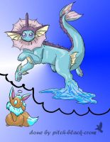 contest entry_vaporEON by pitch-black-crow