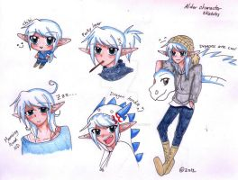 Alder Character Sketches by forgottenlegend
