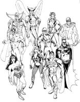 JLA 2008 inks by DragonArcher