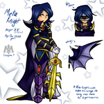 Meta Knight gijinka ref. sheet by LittleCloudie