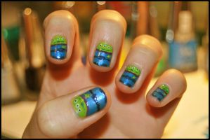 Toy Story Alien nails by martinrivass