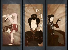 Dangerous Ladies Triptych by cozyfire