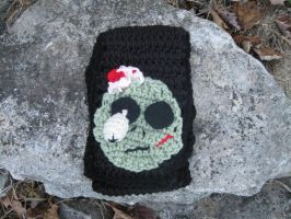 Dangling Eyeball zombie Scarf by HumphreysHandmade