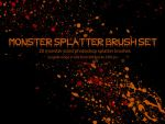 Monster Splatter Brush Set by miskis