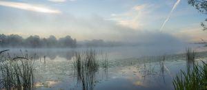 Mist River Panorama by Artursphoto