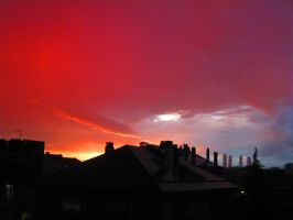 red sky by AnnarXy