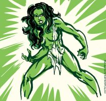 The Savage She-Hulk by TheCosmicBeholder