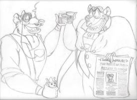 Doran and Ratigan - A Toast to... Sketch by The-Manga-Goddess