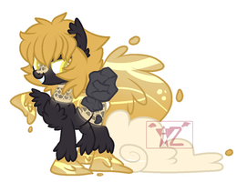 Ornate gold Waterfaller adopt (closed) by AzrealRou