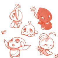 Chao doodles by ArtisticWarrior0
