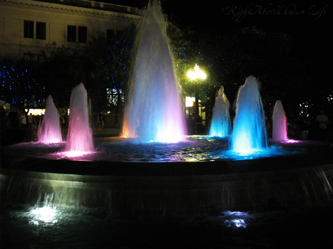 Colourful fountain by RightAboveUnderLeft