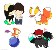 Chibis by Sliced-Penguin