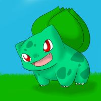 Pokepaints 001: Bulbasaur by HaruBells