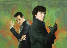 Sherlock and Moriarty by slugette
