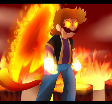 Raging Blood fire by BaconBloodFire