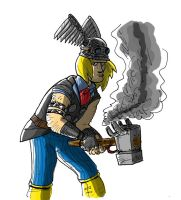 Steampunk Thor - colors by Frobman by LeSam