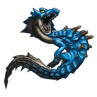 MH3U serie - Chibi Lagiacrus by 9be