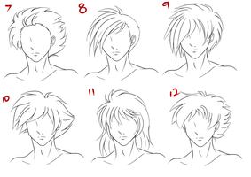 Anime Male Hair Style 2 by RuuRuu-Chan