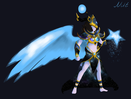 SMITE God concept- Nut, Goddess of the sky by killerboss2