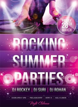 Rocking Summer Party Flyer by mantushetty