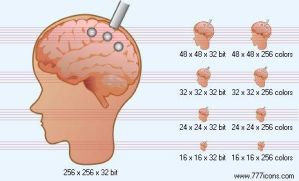 Brain probe Icon by science-icons