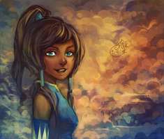 CLOUDS with a side of Korra by forgottenpantaloons