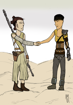 Rey and Furiosa by JoaoMarcos14