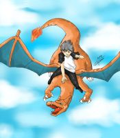 Shion and Charizard by Natufu