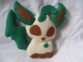 Leafeon custom plush pokemon by P-isfor-Plushes