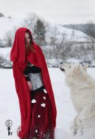 The Red Ridding Hood and the Wolf by Screammoria