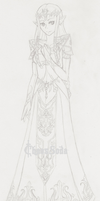 Princess Zelda- Twilight Princess-Sketch by ChaosSoda