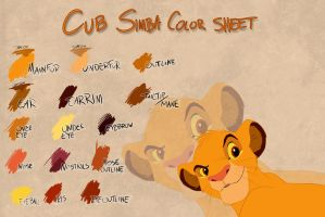 Cub Simba color sheet by Takadk