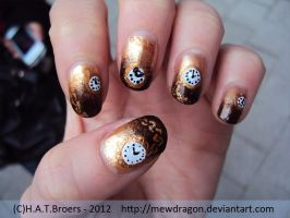 Coffee Clocks nailart by Kythana