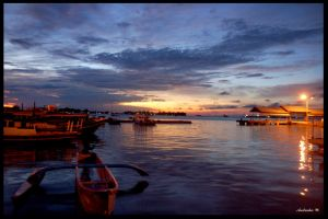 Sunset at Dermaga by dsh-oseven