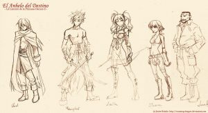 Characters design 2 by javierbolado