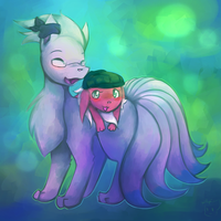 Zachtales And Honeevee by honrupi
