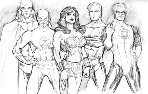 JLA Year 1 by guinnessyde