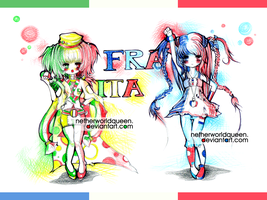 Italy-France by NetherworldQueen