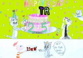 Happy B'day ThrillingRaccoon by Just-To-Look1