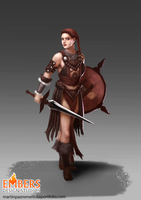 Female barbarian Concept by martinpazromero