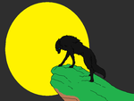 Barghest and the Moon by samthefox