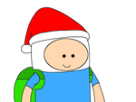 Finn with Santa Claus hat by MarcosLucky96