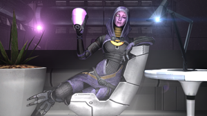 Tali Unmasked Pose by SlipperyHammer