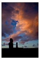Moai Sunset 3 by unAmerican