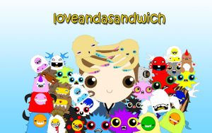 loveandasandwich wallpaper2 by to-much-a-thing