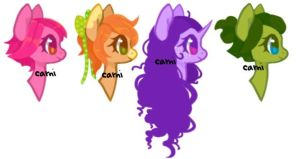 Pony headshot adopts (OPEN) by Carnivvorous