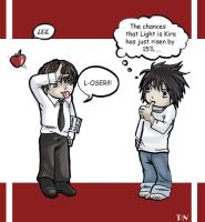 Death Note - L-oser by gummypocky