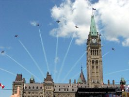 Flying Over Parliament by PaulMcKinnon